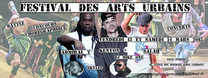 Festival des Arts Urbains 2015, vendredi 13 et samedi 14 mars 2015 - Clermont (Oise)