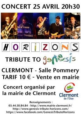 HORIZONS : GENESIS tribute band, samedi 25 avril 2015 - Clermont (Oise)