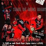 Clermont Club Rugby vs Stade de Reims Rugby, dimanche 1er février 2015 - Clermont (Oise)