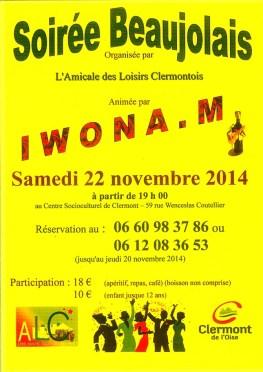 Soirée Beaujolais 2014 - Clermont (Oise)