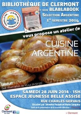 Bibliothèque : atelier de cuisine Argentine, samedi 28 juin 2014 - Clermont Oise