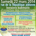 Braderie de Printemps 2014 des Commerçants Clermontois, samedi 22 mars 2014 - Clermont Oise