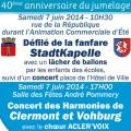 CLERMONT - VOHBURG - 40ème anniversaire du jumelage - Clermont Oise