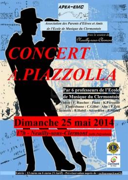 Concert Astor Piazzolla (musique de tangos), dimanche 25 mai 2014 - Clermont Oise