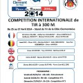 Compétition internationale de tir à 300M ,du 25 au 27 avril 2014 - Clermont Oise
