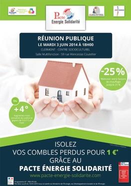 Pacte Energie Solidarité - Réunion publique : isoler ses combles pour 1 € - Clermont Oise