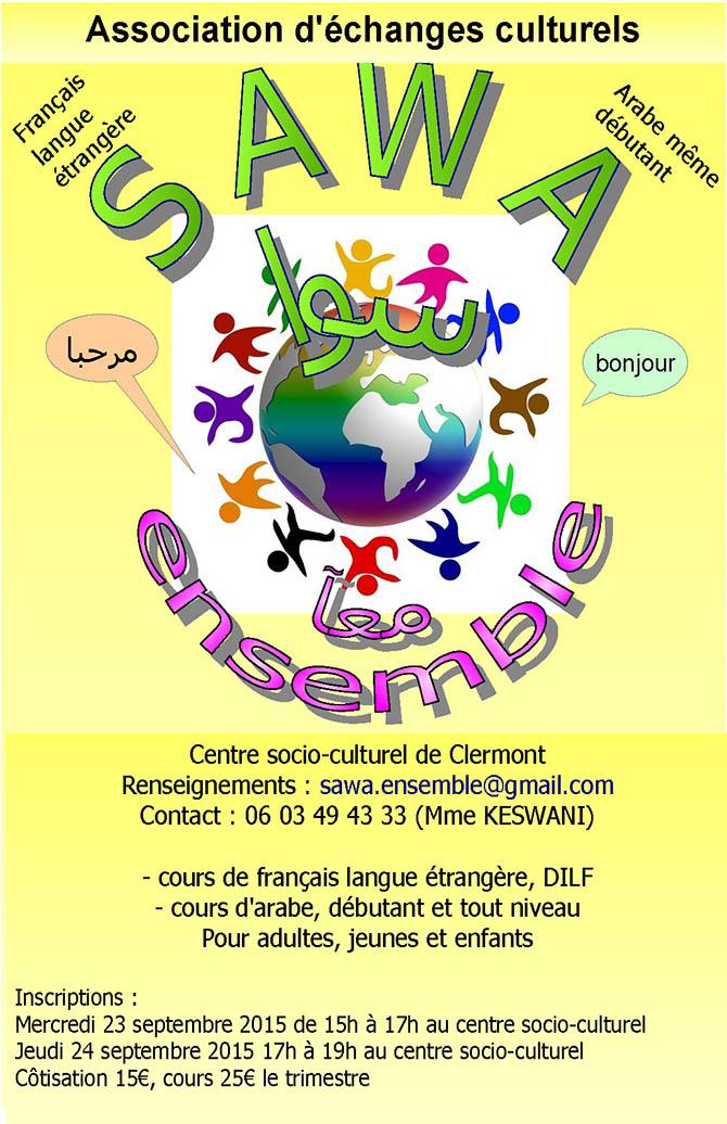 SAWA - association d'échanges culturels - Français langue étrangère Arabe même débutant - Clermont Oise
