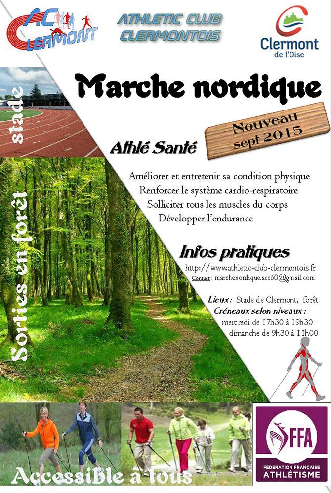 Marche Nordique par l'Athletic Club Clermontois - Clermont Oise