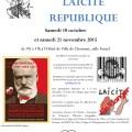 7ème colloque d'automne de la Fédération de la Libre Pensée de l'Oise : Ecole Laïcité République, samedi 10 octobre 2015 - Clermont Oise