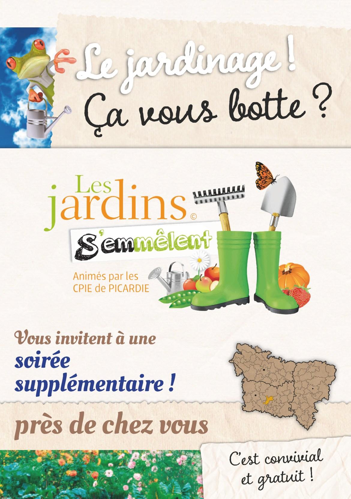 """Le jardinage ! Ça vous botte ? soirée """"Les Jardins s'emmêlent"""", mercredi 09 novembre 2016"""