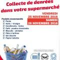 """Epicerie Sociale """"Coup de Pouce"""" : Collecte de denrées dans votre supermarché, vendredi 25 et samedi 26 novembre 2016"""