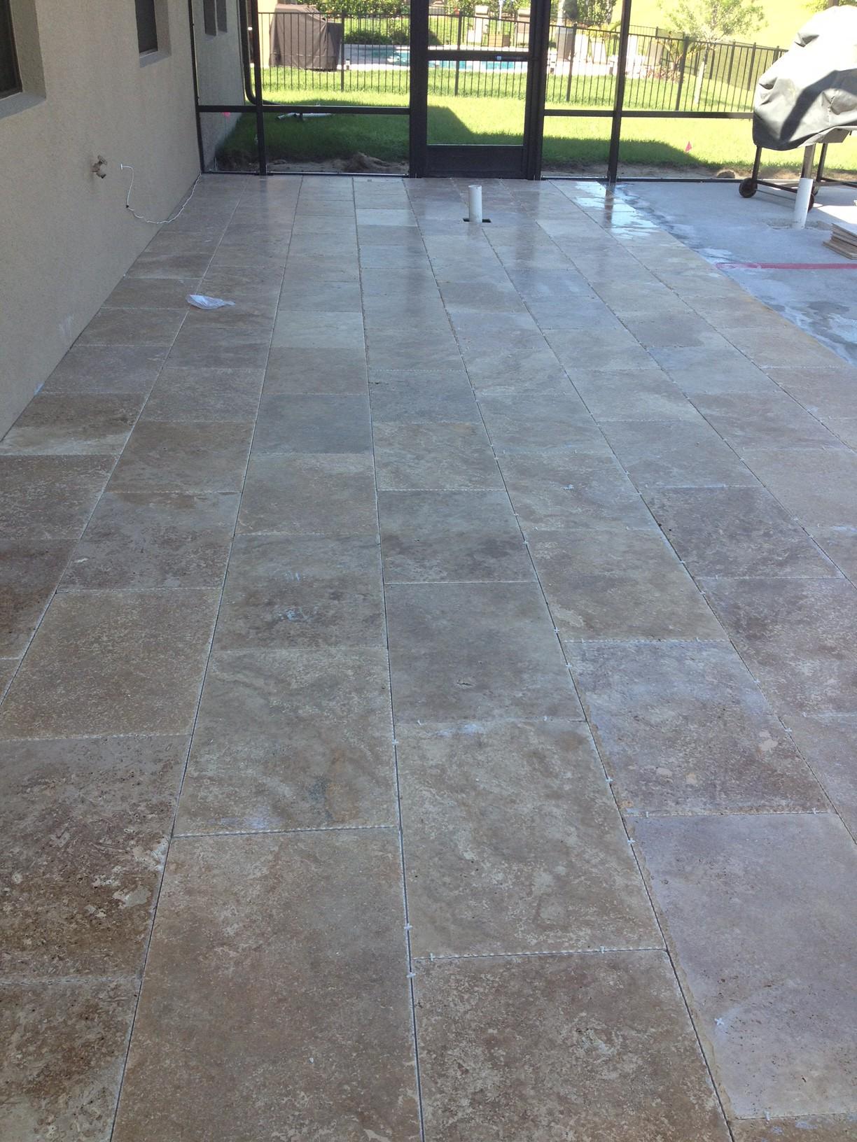 Travertine Marble Tile Floor