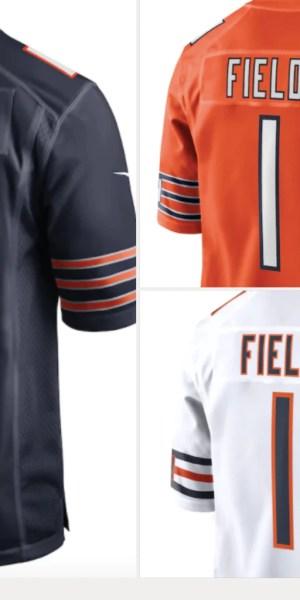 Justin Fields Bears jerseys