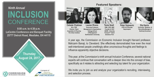 Ninth Annual Inclusion Conference @ LaCentre Conference and Banquet Facility | Westlake | Ohio | United States
