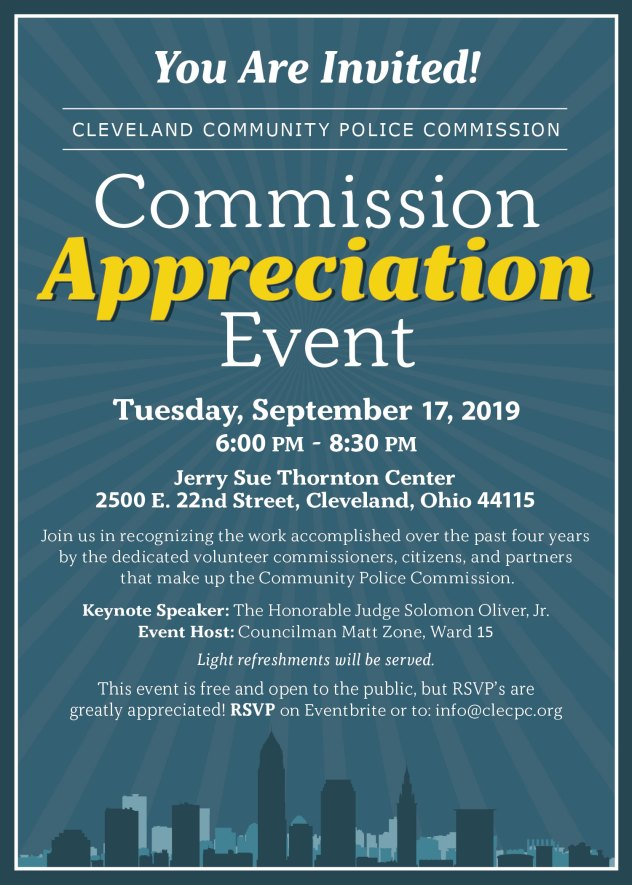 Commission Appreciation Event @ Jerry Sue Thornton Center