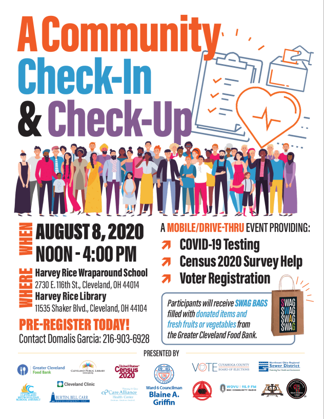 A Community Check-In & Check-Up. A mobile/drive-thru event @ Harvey Rice Library