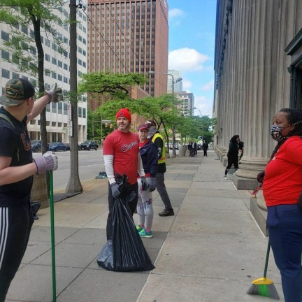 Downtown Cleveland Cleanup