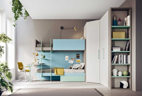 Il blu è perfetto anche per la cameretta destinata a studio,. News 10 1 Camerette Colorate Per Bambini Super Moderni Clever