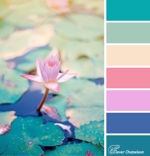 Lily Pad Glow color scheme by Clever Chameleon