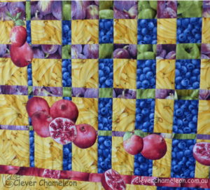 A quilt that shows contrast in scale by Dione Gardner-Stephen