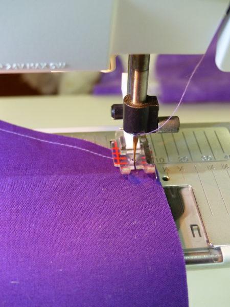 Sewing tumbling blocks step one