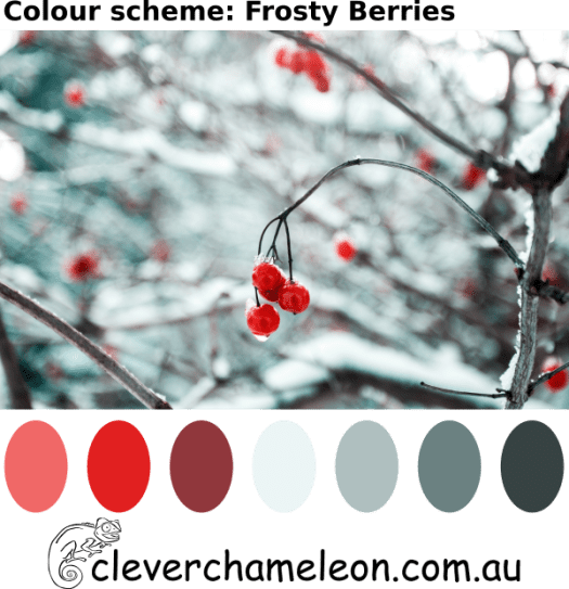 Frosty Berries color palette by Clever Chameleon