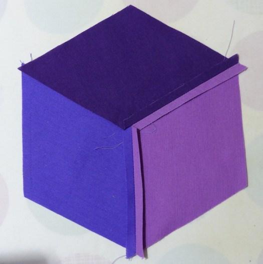 ing tumbling blocks step three
