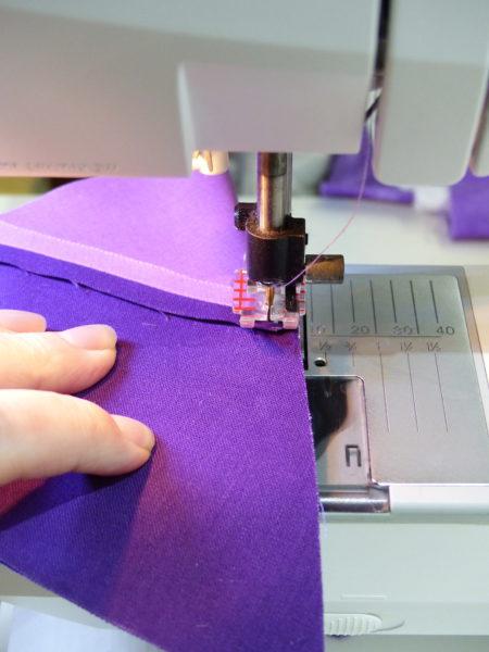 Sewing tumbling blocks step four