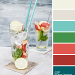 Blood Orange and Mint Colour scheme by Clever Chameleon