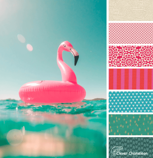 Flamingoes in the Pool color scheme from Clever Chameleon