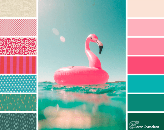 Flamingoes in the Pool colour scheme by Clever Chameleon