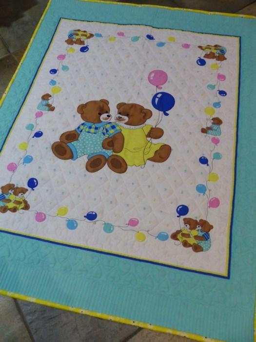 teddy bears fabric panels