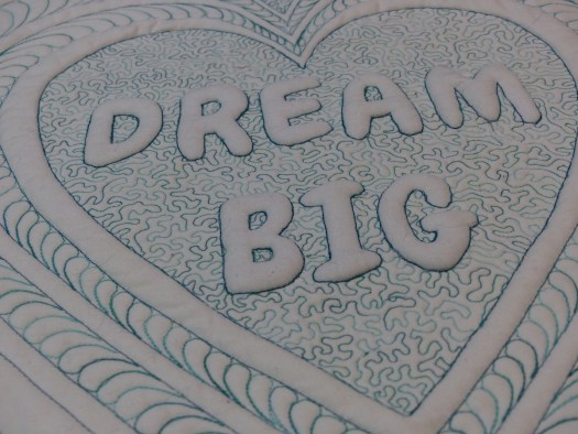 Dream big trapunto close up