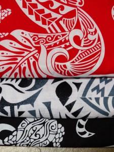 black and white and red fabrics from Vanuatu