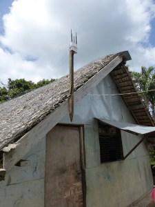 mesh extender on hut, Vanuatu