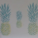 stencilled pineapples