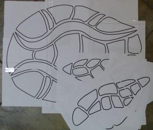 Turtle appliqué design
