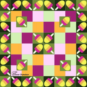 Summer picnic quilt idea by Clever Chameleon