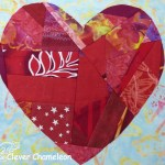 Valentine's Heart quilt block from Clever Chameleon