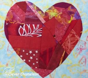 Valentine's Heart quilt block