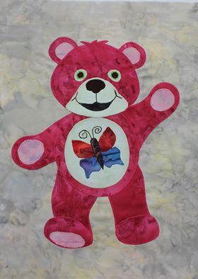 Jean's red bear from the Beary Colourful BOM
