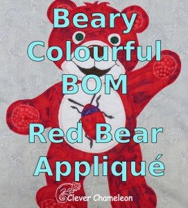 Red Bear Appliqué button
