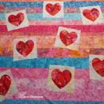 Valentines Hearts quilt