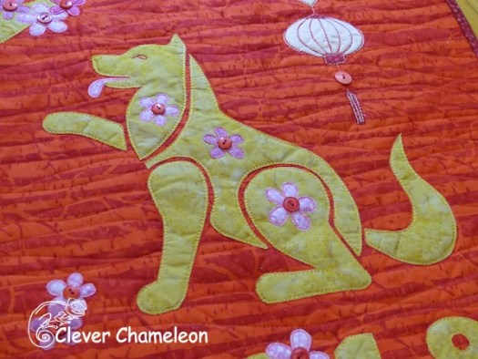 Year of the dog mini quilt