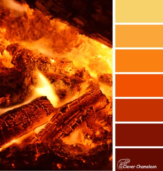 Fire Orange color scheme from Clever Chameleon