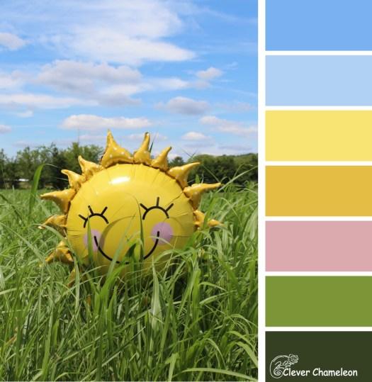 Happy Sunshine colour scheme