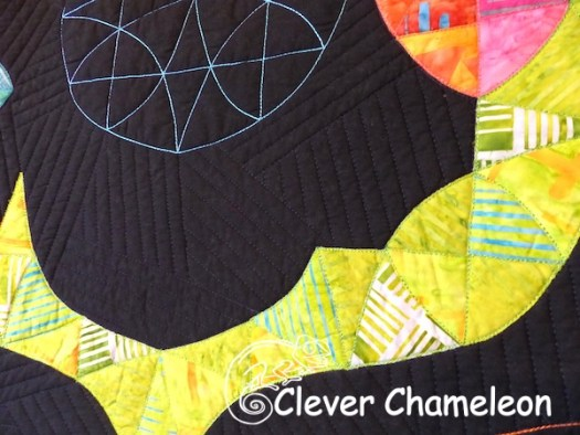 Modern Winding Ways quilting detail
