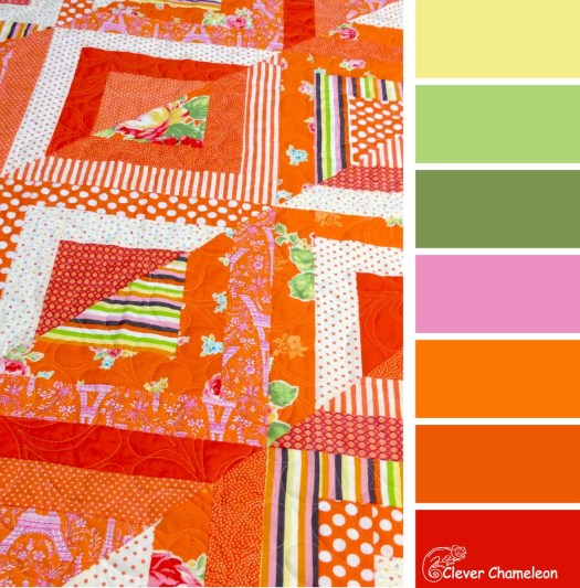 Cheerful Orange color scheme by Clever Chameleon