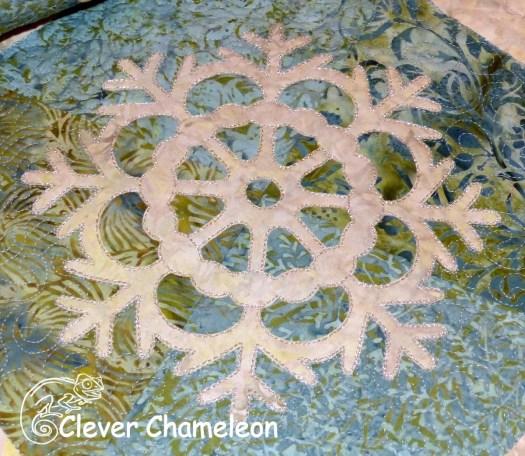 appliquéd snowflake