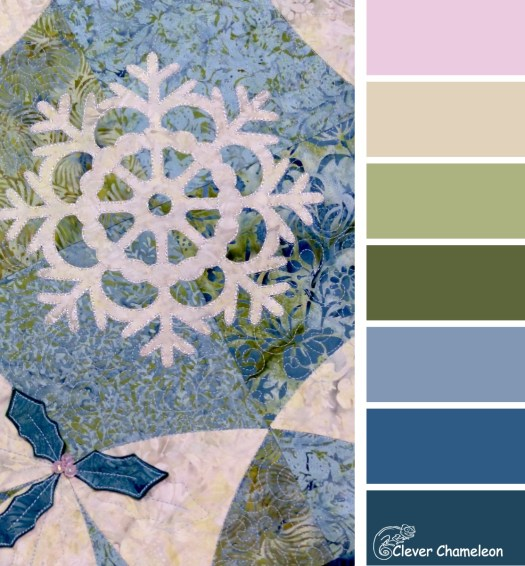 White Christmas quilt color scheme by Clever Chameleon